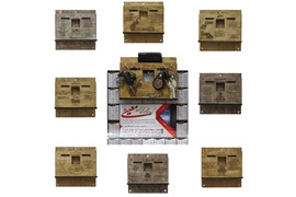 اعطای نمایندگی پایه تقویم دیواری به همراه جای کلیدی چوبی